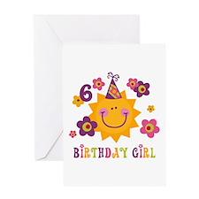 Sun 6th Birthday Greeting Card