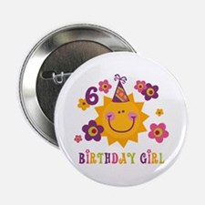 "Sun 6th Birthday 2.25"" Button"