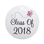 Sweet Pink Class Of 2018 Ornament (Round)
