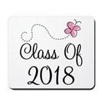 Sweet Pink Class Of 2018 Mousepad