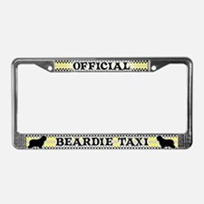 Official Beardie Taxi License Plate Frame