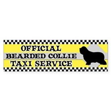 Official Bearded Collie Taxi Bumper Bumper Sticker