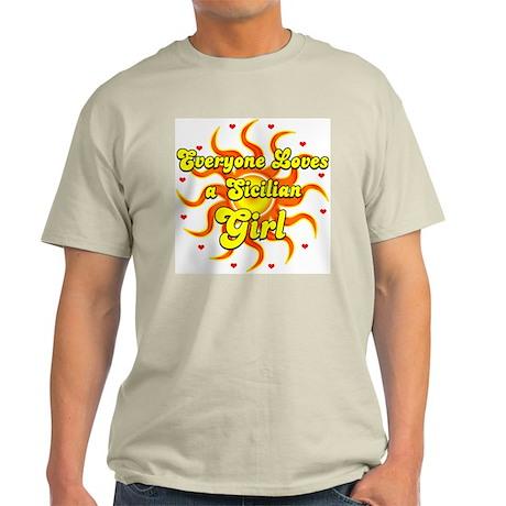 every 1 loves a sicilian girl Ash Grey T-Shirt
