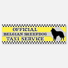 Official Belgian Sheepdog Taxi Bumper Car Car Sticker