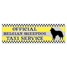 Official Belgian Sheepdog Taxi Bumper Car Sticker