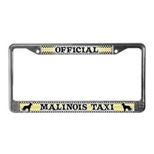 Official Malinois Taxi License Plate Frame