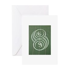 Cute Crop circles Greeting Card