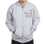 Sweet Pink Class Of 2024 Zip Hoodie