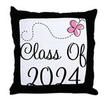 Sweet Pink Class Of 2024 Throw Pillow