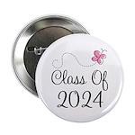 "Sweet Pink Class Of 2024 2.25"" Button"