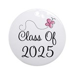 Pink Class Of 2025 Ornament (Round)