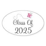 Pink Class Of 2025 Oval Sticker (50 pk)