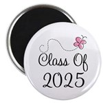 Pink Class Of 2025 Magnet
