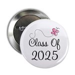 "Pink Class Of 2025 2.25"" Button"