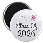 Pink Class Of 2026 Magnet