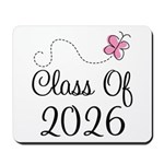 Pink Class Of 2026 Mousepad