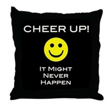 Cheer Up V2 Throw Pillow