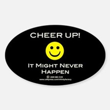 Cheer Up V2 Oval Decal
