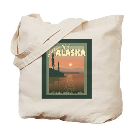 Visit Beautiful Alaska Tote Bag