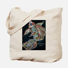 Funny Butterfly fish Tote Bag
