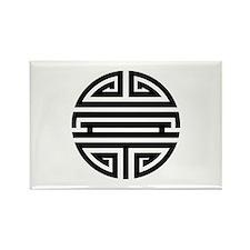 Black Shou Rectangle Magnet