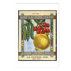 Sow Salzer's Seeds Postcards (Package of 8)
