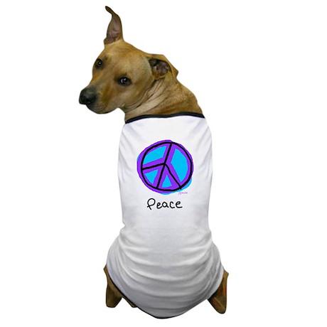 Peace Sign Doodle Dog T-Shirt