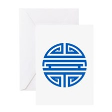 Blue Shou Greeting Card