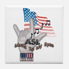 Music to my Eyes - Tile Coaster