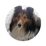 Sheltie Round Ornaments