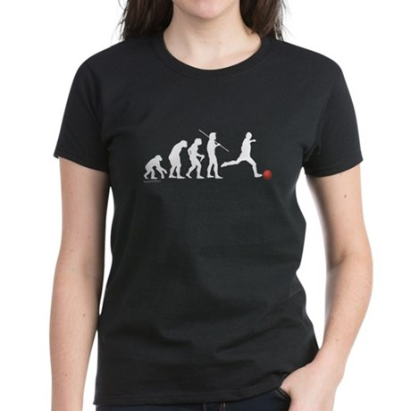 Kickball Evolution Women's Dark T-Shirt