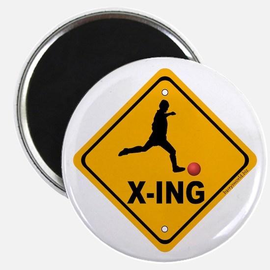 """Kickball X-ing 2.25"""" Magnet (10 pack)"""