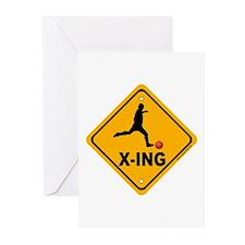 Kickball X-ing Greeting Cards (Pk of 20)