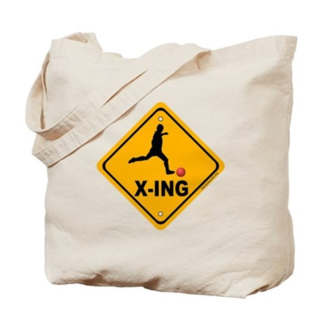 Kickball X-ing Tote Bag