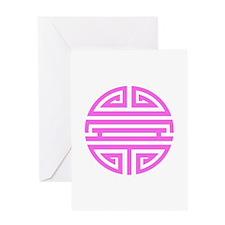 Pink Shou Greeting Card