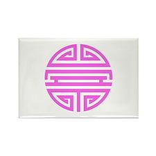 Pink Shou Rectangle Magnet