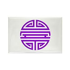 Purple Shou Rectangle Magnet