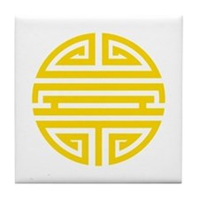 Yellow Shou Tile Coaster