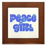 Peace Girl Framed Tile