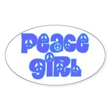 Peace Girl Oval Decal