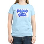 Peace Girl Women's Pink T-Shirt