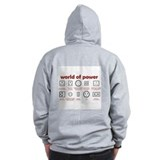 Power sockets of the world Zip Hoodie