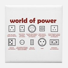 World of Power Tile Coaster