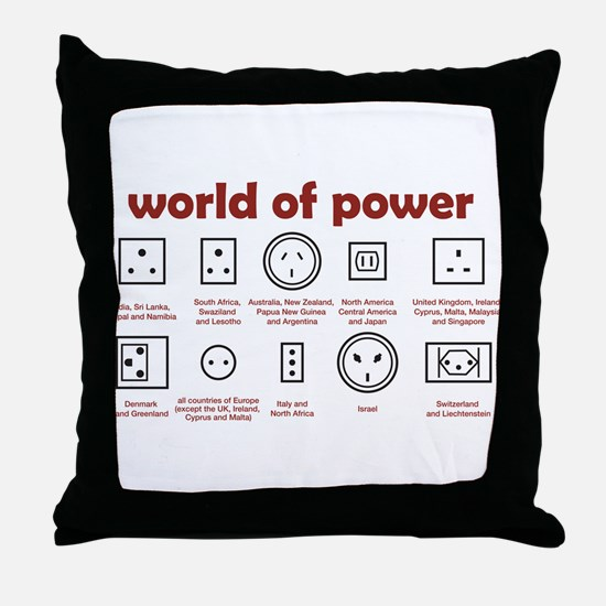 World of Power Throw Pillow