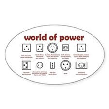 World of Power Oval Decal