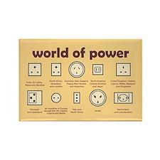 World of Power Rectangle Magnet