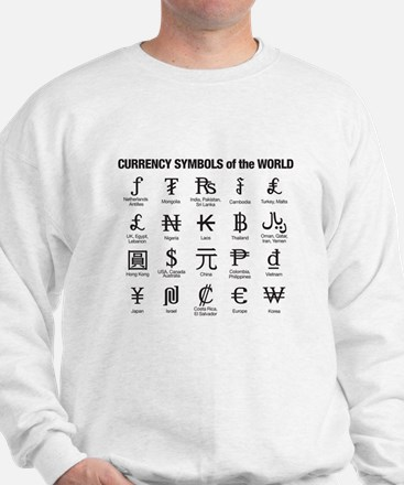 World Currency Symbols Sweater