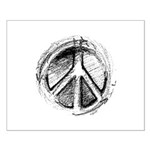 Urban Peace Sign Sketch Small Poster