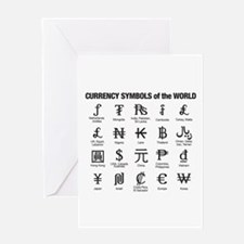World Currency Symbols Greeting Card