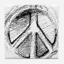 Urban Peace Sign Sketch Tile Coaster